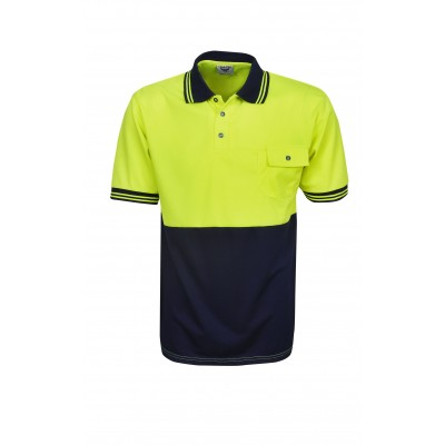 0056cc652 Bluewhale Short Sleeve Hi Vis Cooldry Polo